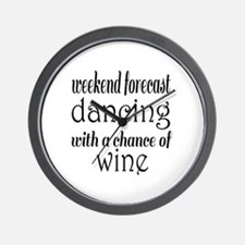 Dancing and Wine Wall Clock