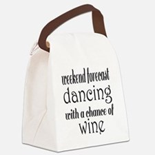 Dancing and Wine Canvas Lunch Bag