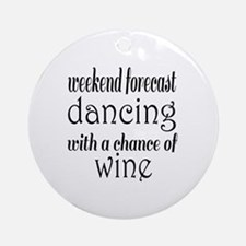 Dancing and Wine Round Ornament