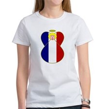 French Angel Flag Blonde T-Shirt