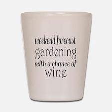 Gardening and Wine Shot Glass