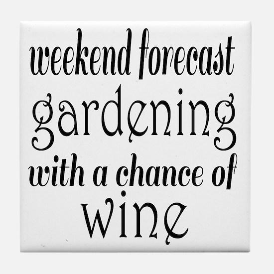 Gardening and Wine Tile Coaster