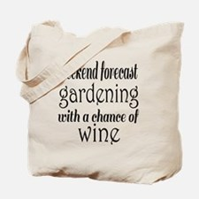 Gardening and Wine Tote Bag