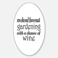 Gardening and Wine Decal