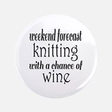 Knitting and Wine Button