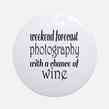Photography and Wine Round Ornament
