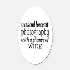 Photography and Wine Oval Car Magnet