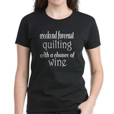 Quilting and Wine Tee