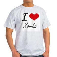 I Love Sambo artistic Design T-Shirt