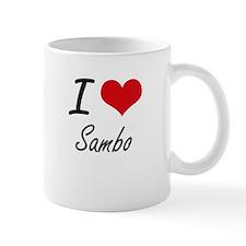 I Love Sambo artistic Design Mugs