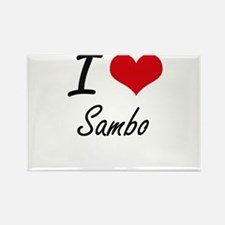 I Love Sambo artistic Design Magnets