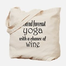 Yoga and Wine Tote Bag