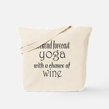 Yoga and Wine Tote Bag