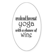 Yoga and Wine Decal