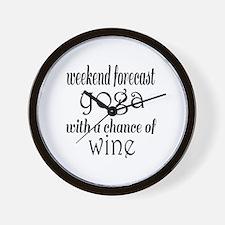 Yoga and Wine Wall Clock