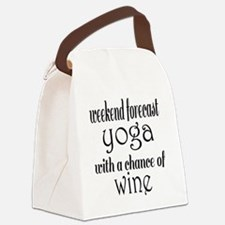 Yoga and Wine Canvas Lunch Bag