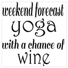 Yoga and Wine Poster