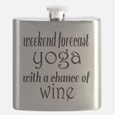 Yoga and Wine Flask