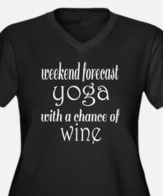 Yoga and Win Women's Plus Size V-Neck Dark T-Shirt