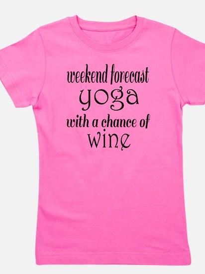 Yoga and Wine Girl's Tee