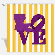 Louisiana Love Purple and Gold Shower Curtain