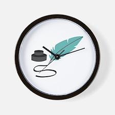Quill Pen Wall Clock