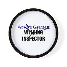 Worlds Greatest WELDING INSPECTOR Wall Clock