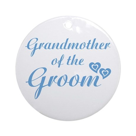 Grandmother of the Groom Ornament (Round)