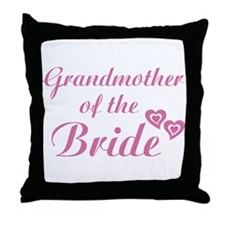 Grandmother of the Bride Throw Pillow