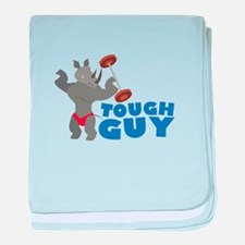 Tough Guy baby blanket