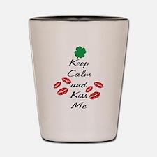 Keep Calm Kiss Shot Glass
