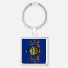 Pennsylvania State Flag Square Keychain