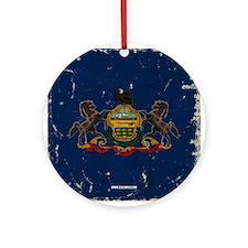 Pennsylvania State Flag VINTAGE Round Ornament