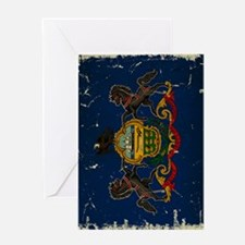 Pennsylvania State Flag VINTAGE Greeting Card