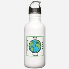 Work, Save, Travel, Repeat Water Bottle