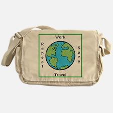 Work, Save, Travel, Repeat Messenger Bag