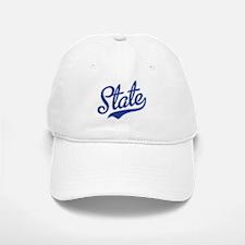 State Script Font Baseball Baseball Baseball Cap