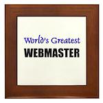 Worlds Greatest WEBMASTER Framed Tile