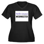 Worlds Greatest WEBMASTER Women's Plus Size V-Neck