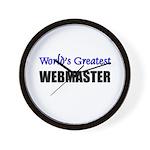 Worlds Greatest WEBMASTER Wall Clock