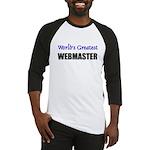 Worlds Greatest WEBMASTER Baseball Jersey
