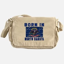 Born in North Dakota Messenger Bag