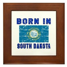 Born in South Dakota Framed Tile