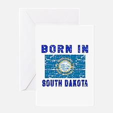 Born in South Dakota Greeting Card