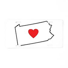 I Love Pennsylvania Aluminum License Plate