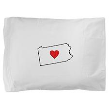 I Love Pennsylvania Pillow Sham