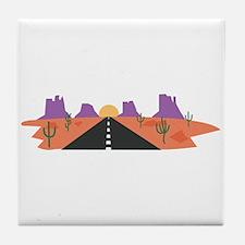 Desert Road Tile Coaster