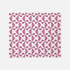 Cranberry Pinwheels Throw Blanket