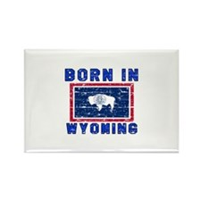 Born in Wyoming Rectangle Magnet
