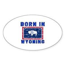 Born in Wyoming Decal